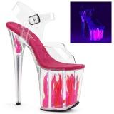 Neon 20 cm Pleaser FLAMINGO-808FLM tankotanssi kengät