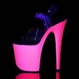 Neon Pinkit 20 cm Pleaser FLAMINGO-808UV Korkokengät Platform