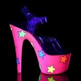 Neon kimalle 18 cm Pleaser ADORE-708STR tankotanssi kengät