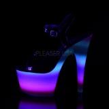 Neon kimalle 18 cm Pleaser ADORE-709WR tankotanssi kengät