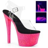 Neon kimalle 18 cm Pleaser SKY-308UVG tankotanssi kengät