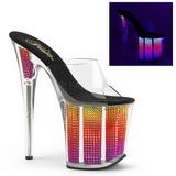 Neon strasseja 20 cm FLAMINGO-801SRS naisten puukengät platform