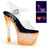 Oranssi Neon 18 cm Pleaser CRYSTALIZE-308PS Platform Sandaletit