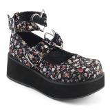 Pellavakankaat 6 cm SPRITE-02 lolita gootti kengät