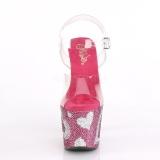 Pinkit 18 cm LOVESICK-708HEART Kimaltelevia Kiviä naisten kengät korkeat korko