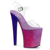 Pinkit 20 cm XTREME-808OMBRE kimallus platform korkokengät naisten