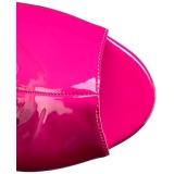 Pinkit Kiiltonahka 10 cm QUEEN-100 suuret koot nilkkurit naisten
