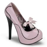 Pinkit Lakka 14,5 cm Burlesque BORDELLO TEEZE-01 Platform Avokkaat Kengät