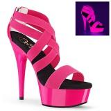 Pinkit neon 15 cm DELIGHT-669UV tankotanssi kengät