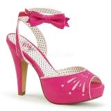 Pinkki 11,5 cm Pinup BETTIE-01 naisten korkosandaalit
