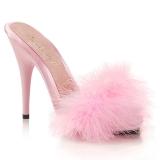 Pinkki 13 cm POISE-501F Marabou Höyhenet Puu Kengät