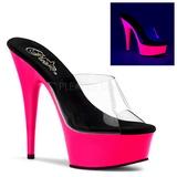 Pinkki 15 cm DELIGHT-601UV neon platform puukengät naisten