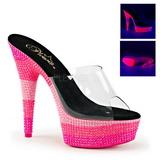 Pinkki 15 cm DELIGHT-601UVS neon platform puukengät naisten