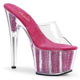 Pinkki 18 cm ADORE-701SRS Strassit kivi platform puukengät naisten