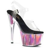 Pinkki 18 cm ADORE-708HGI Hologrammi platform korkokengät naisten