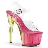 Pinkki 18 cm ADORE-708MCT Akryyli platform korkokengät naisten