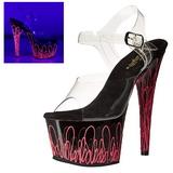 Pinkki 18 cm ADORE-708UVL Neon Platform Korkeakorkoiset Sandaalit