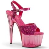 Pinkki 18 cm ADORE-710GT kimallus platform korkokengät naisten