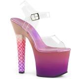 Pinkki 18 cm ARIEL-708OMBRE Akryyli platform korkokengät naisten