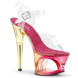 Pinkki 18 cm MOON-708MCT Akryyli platform korkokengät naisten