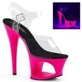 Pinkki 18 cm MOON-708UV Sandaalit Neon Platform
