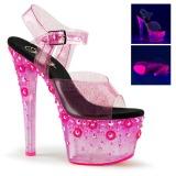 Pinkki 18 cm SKY-308UVMG Neon Platform Korkeakorkoiset Sandaalit