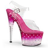 Pinkki 18 cm STARDUST-708T Platform Korkeakorkoiset Sandaalit