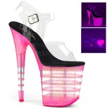 Pinkki 20 cm FLAMINGO-808UVLN Sandaalit Neon Platform