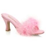Pinkki 7,5 cm FLAPPER-01F Marabou Höyhenet Puu Kengät