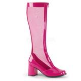 Pinkki 8,5 cm GOGO-307 naisten verkko saappaat korkeat korko