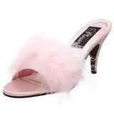 Pinkki 8 cm AMOUR-03 Marabou Höyhenet Puu Kengät