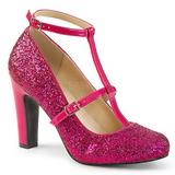 Pinkki Kimalle 10 cm QUEEN-01 suuret koot avokkaat kengät