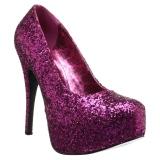Pinkki Kimalle 14,5 cm Burlesque TEEZE-06GW miesten avokkaat leveään jalkaan