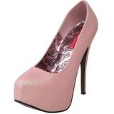 Pinkki Kimalle 14,5 cm Burlesque TEEZE-31G Platform Avokkaat Kengät