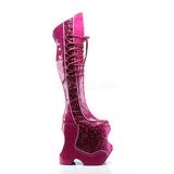 Pinkki Kimalle 22 cm FABULOUS-3035 Reisisaappaat varten Drag Queen