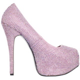 Pinkki Kristalli 14,5 cm Burlesque TEEZE-06R Platform Avokkaat Kengät