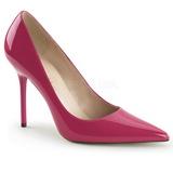 Pinkki Lakatut 10 cm CLASSIQUE-20 teräväkärkiset ja piikkikorkoiset avokkaat