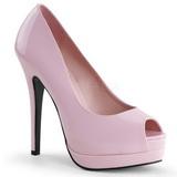 Pinkki Lakatut 13,5 cm BELLA-12 Avokkaat Kengät Piikkikorko