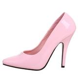 Pinkki Lakatut 13 cm SEDUCE-420 teräväkärkiset avokkaat