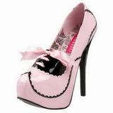 Pinkki Lakka 14,5 cm Burlesque BORDELLO TEEZE-01 Platform Avokkaat Kengät