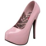 Pinkki Lakka 14,5 cm Burlesque BORDELLO TEEZE-06 Platform Avokkaat Kengät