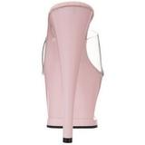 Pinkki Läpinäkyvä 18 cm Pleaser MOON-701TG Platform Puukengät