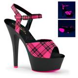 Pinkki Neon 15 cm KISS-209PL Platform Sandaletit