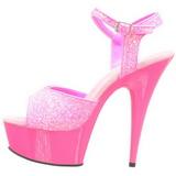 Pinkki Neon 15 cm Pleaser DELIGHT-609UVG Platform Sandaletit