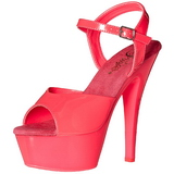 Pinkki Neon 15 cm Pleaser KISS-209UV Platform Sandaletit