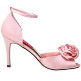 Pinkki Satiini 9,5 cm ROSA-02 Naisten Sandaletit Korkea