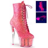 Pinkki kimallus 18 cm ADORE-1020G korokepohja nilkkurit korkeat korko