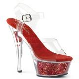 Punainen 15 cm KISS-208GF kimallus platform sandaalit naisten