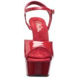Punainen 15 cm Pleaser DELIGHT-609 Korkosandaalit