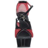 Punainen 15 cm Pleaser DELIGHT-652 Korkeakorkoiset platform sandaletit